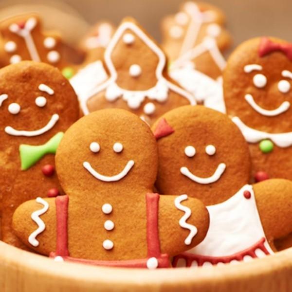 Lächelnde Menschen Figuren Lebkuchen Weihnachten