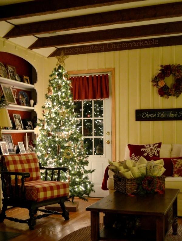 Ländliche Innenraum DIY Weihnachtsdeko