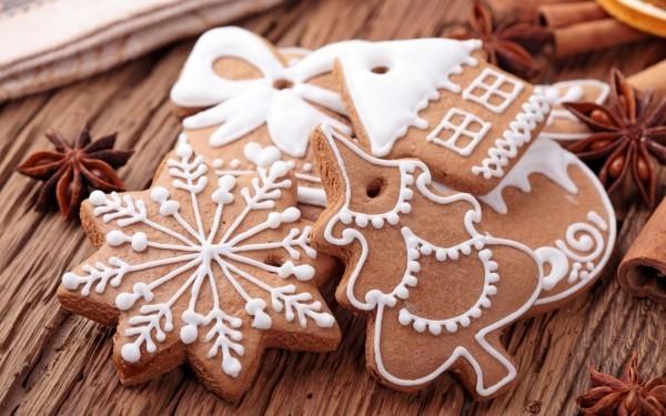 Lebkuchen Weihnachten mit typischer Symbolik