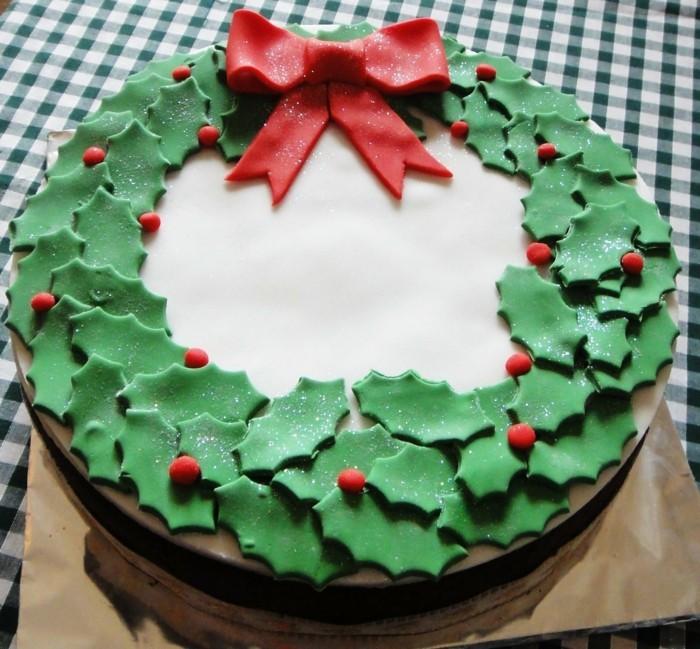 Marzipan selber machen weihanchtsdeko torte