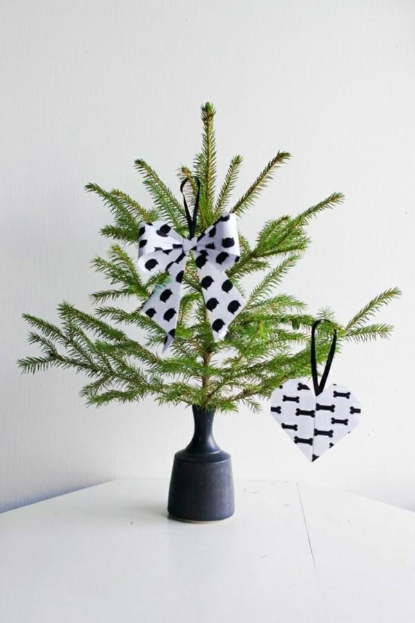Minimalistische Weihnachtsdeko selber machen Idee