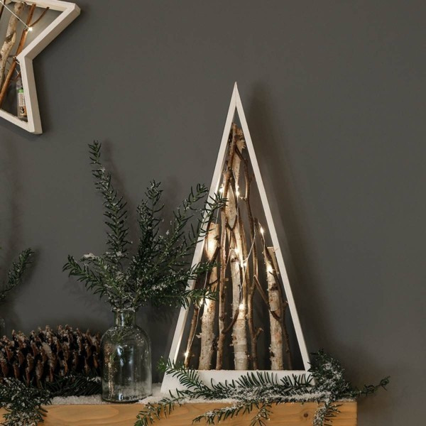 Minimalistische rustikale Weihnachtsdeko