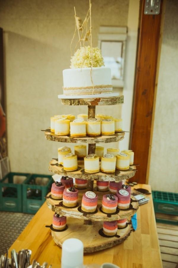 Originelle Design Cupcake und Tortenständer holz