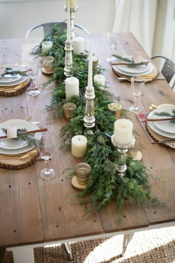 Rustikale Tischdeko für Weihnachten