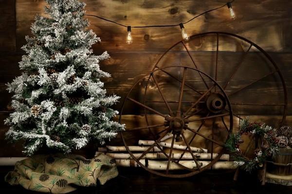Sehr elegante rustikale Weihnachtsdeko DIY