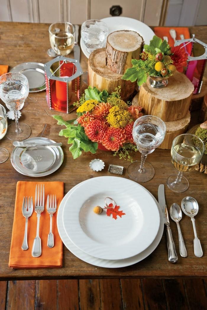 Sehr schlichter Tischset mit Imitation von Naturgaben