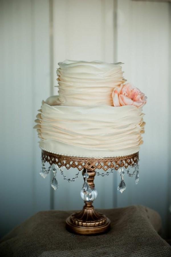 Selbstgemachter tortenständer Hochzeit gold