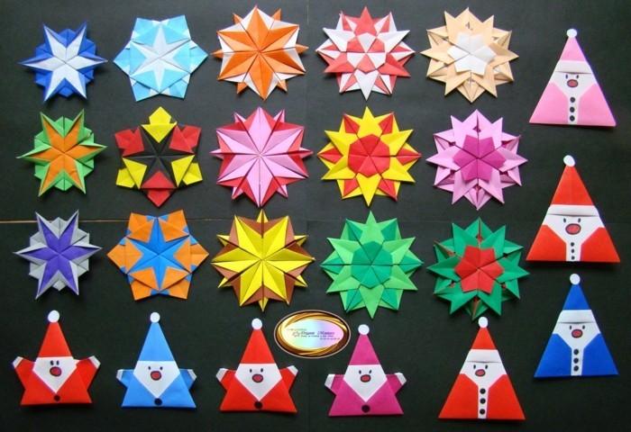 Sterne basteln für Weihnachten mitOrigami Anleitung sternenalarm