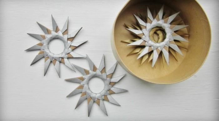 Sterne basteln für Weihnachten mitOrigami Anleitung weihnachten dekoration schritt 7