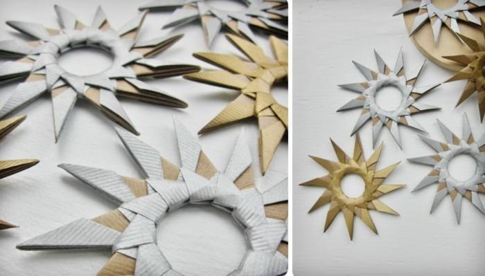 Sterne basteln für Weihnachten mitOrigami Anleitung weihnachten dekoration schritt 8