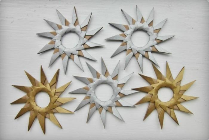 Sterne basteln für Weihnachten mitOrigami Anleitung weihnachten dekoration