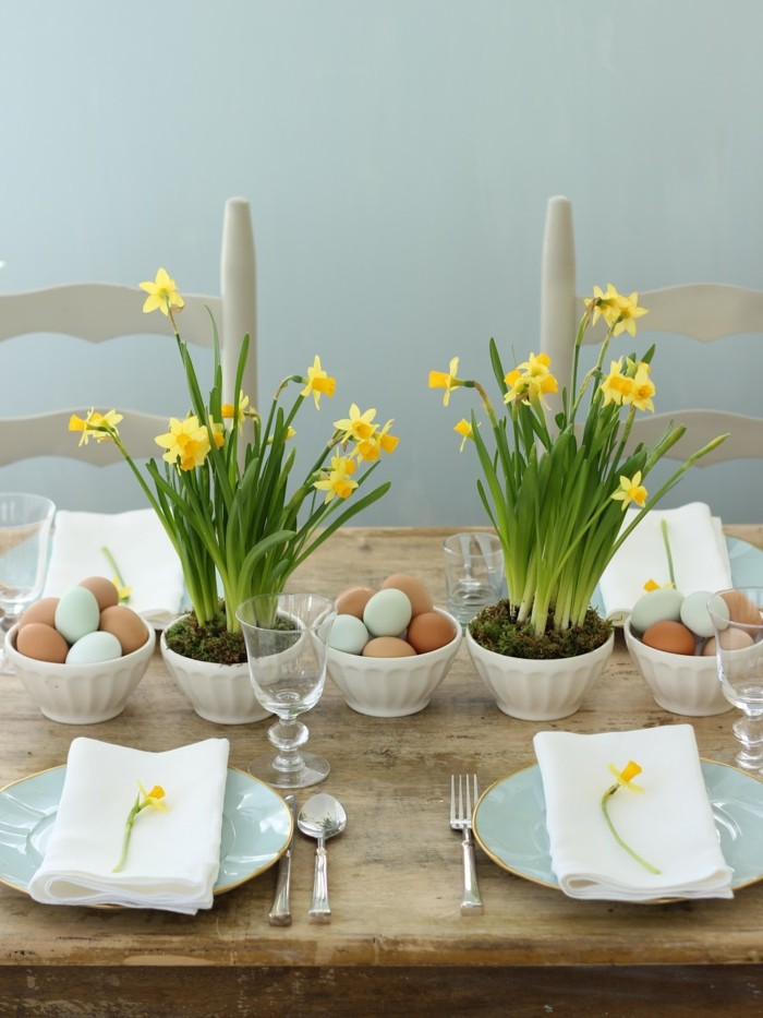 Tolle Tischdeko für Ostern oder den Frühling