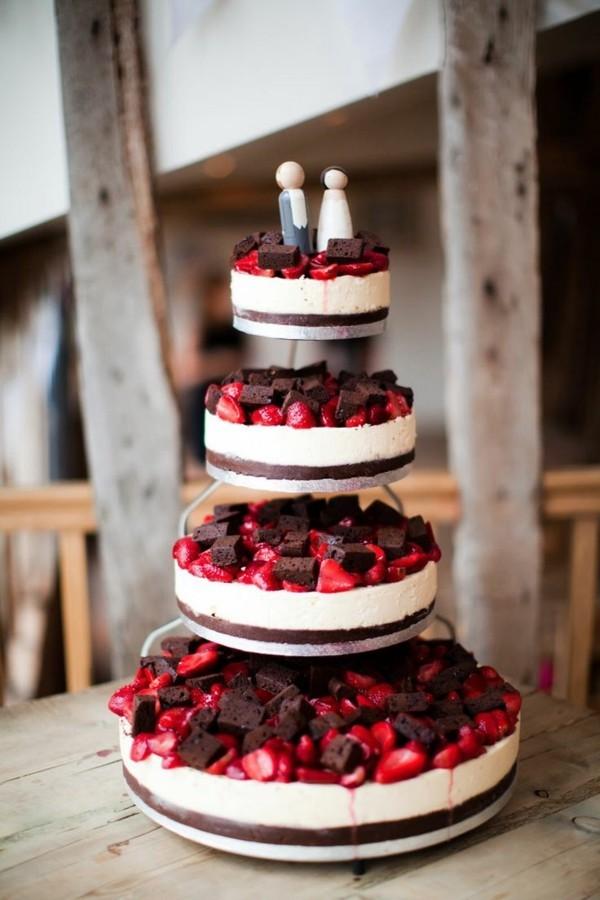Tortenständer Hochzeit schlicht selbstmacht