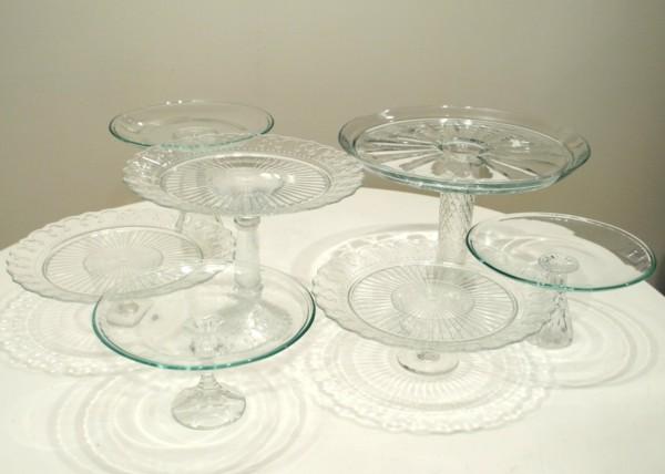 Tortenständer aus Glas