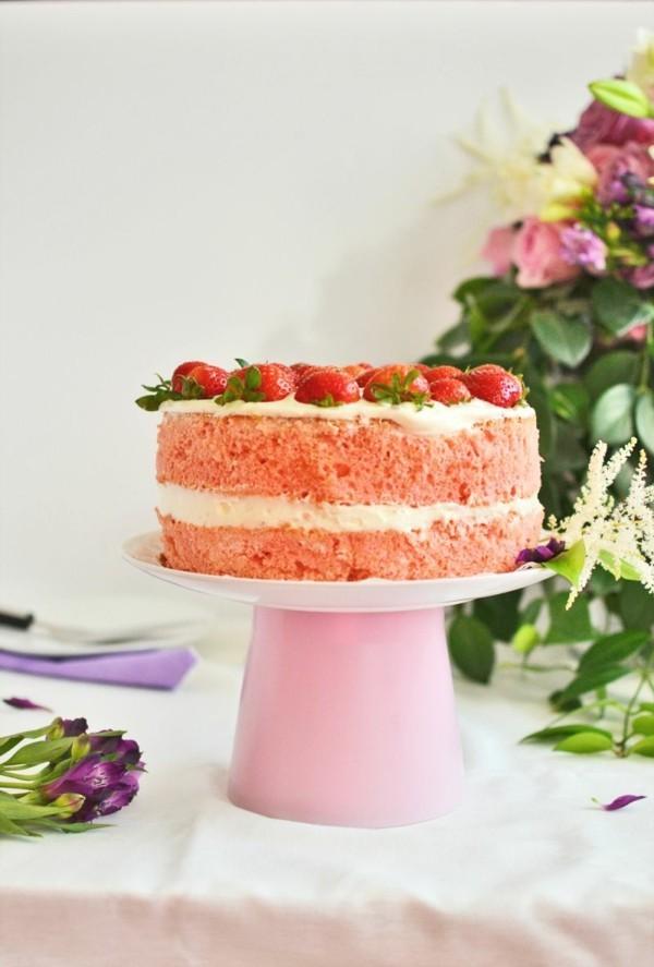 Tortenständer selber bauen rosa