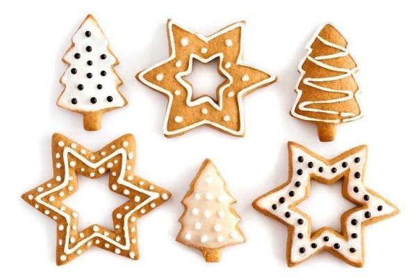 Traditionelle Symbole Weihnachtskekse backen