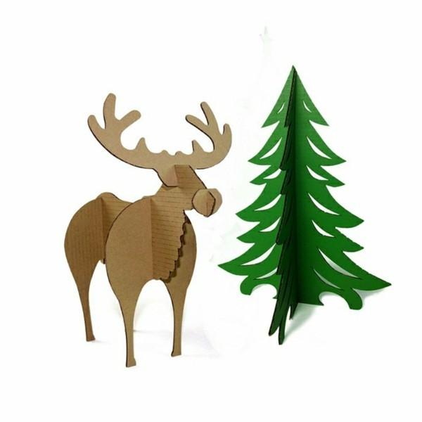 Typische weihnachtliche Figuren Weihnachtsbasteln mit Papier