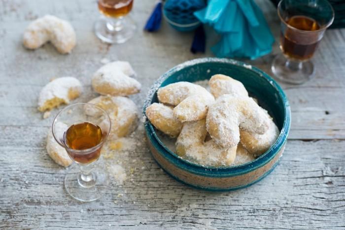 Vanillekipferl backen mit puderzucker zu weihnachten vegane plätzchen