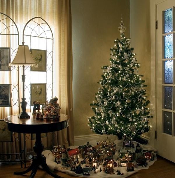 Vintage Weihnachtsbaum und Dekoration DIY