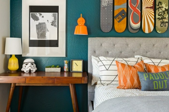 wandfarbe petrol 56 ideen f r mehr farbe im interieur. Black Bedroom Furniture Sets. Home Design Ideas
