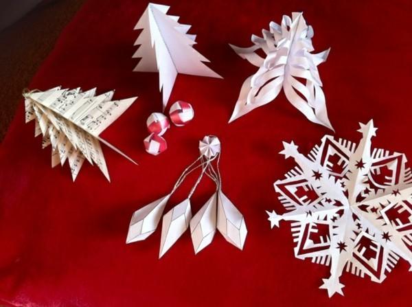 Weihnachtliche Figuren basteln aus Papier