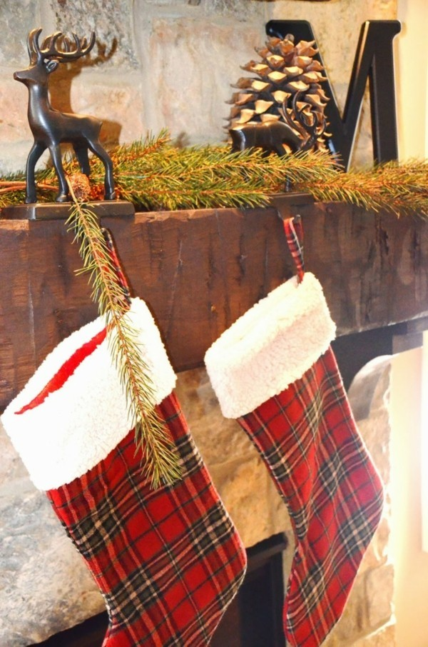 Weihnachtliche Strümpfe als DIY Deko
