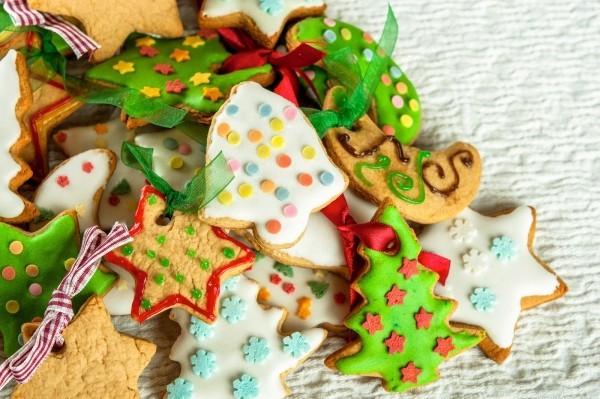 Weihnachtliche Symbolik Kekse backen