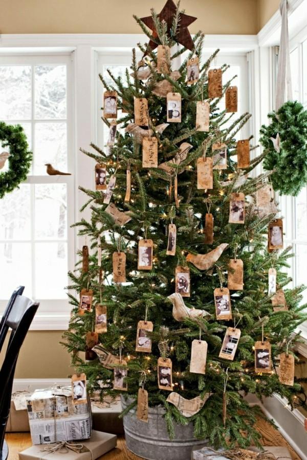 Weihnachtsbaumschmuck aus Papier basteln