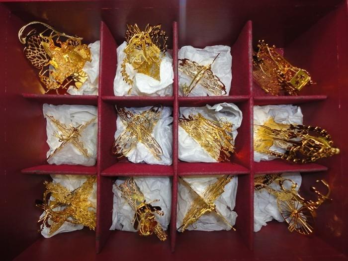 Weihnachtsdeko Ideen mit der Farbe Gold Geschenkideen