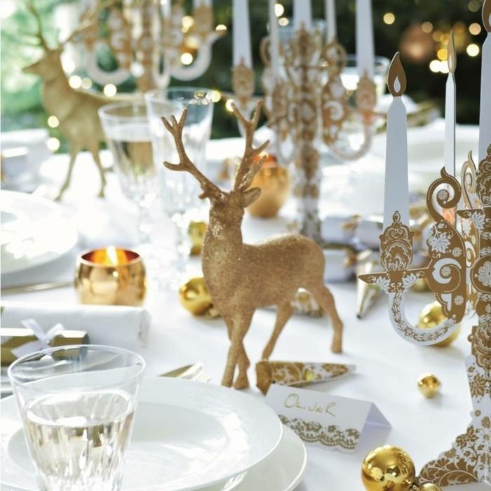 Weihnachtsdeko Ideen mit der Farbe Gold Rentier