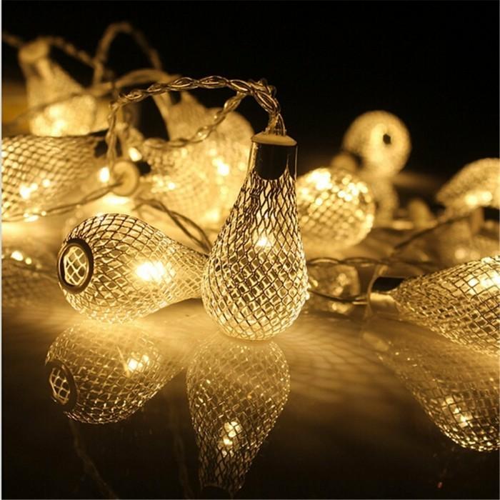 Weihnachtsdeko Ideen mit der Farbe Gold weihnachtsbeleuchtung