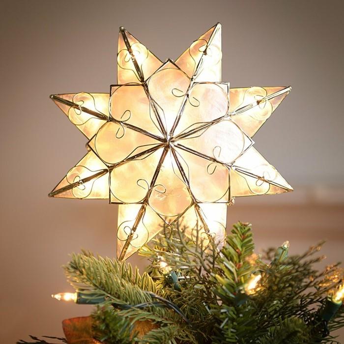 Weihnachtsdeko Ideen mit der Farbe Gold weihnachtsstern Leuchte