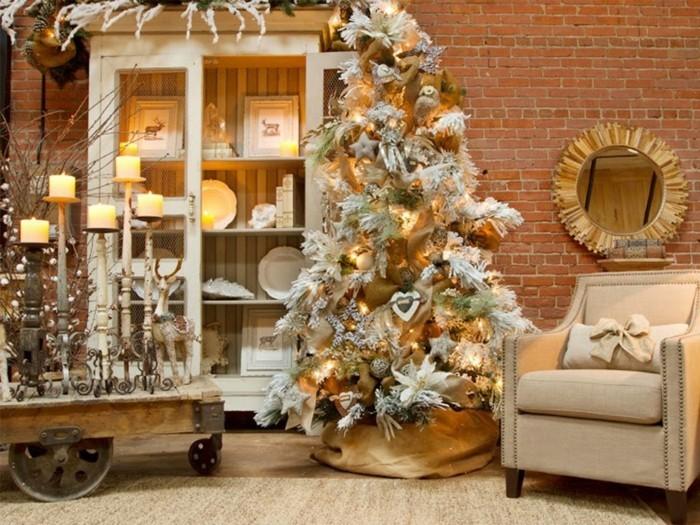 Weihnachtsdeko Ideen mit der Farbe Gold weihnachtsstern deko