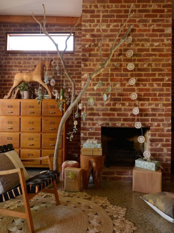 Weihnachtsdeko Landhausstil dekogirlande rustikaler look