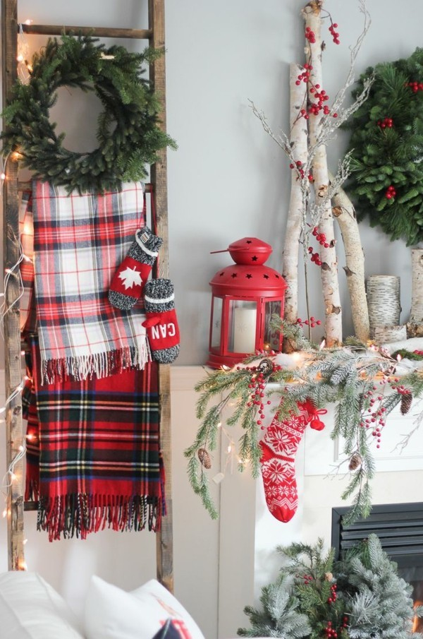 Weihnachtsdeko Landhausstil gemptliche atmosphäre frische farben