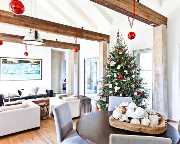 Weihnachtsdeko Landhausstil hängedeko weihnachtsbaumschmuck schöner christbaum
