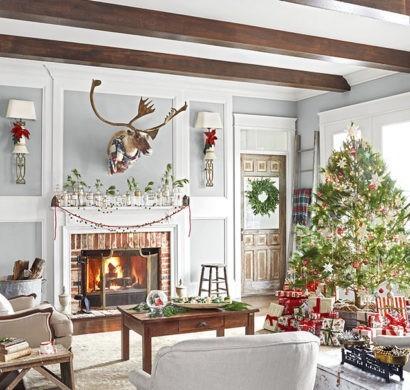 Weihnachtsdeko Landhausstil 15 weihnachtsdeko wohnzimmer bilder winterdeko fur puristen weniger