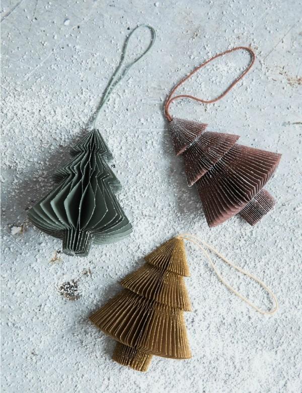 Weihnachtsdeko selber machen kleine Tannenbäume