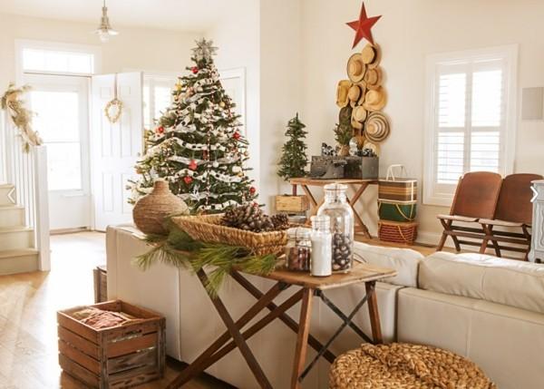 Weihnachtsdeko selber machen mit Gegenständen aus dem Raum