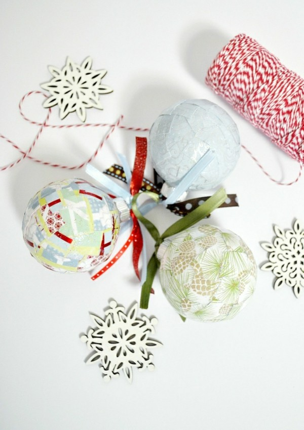 Weihnachtsdekoration selber machen Papier und andere Materialien