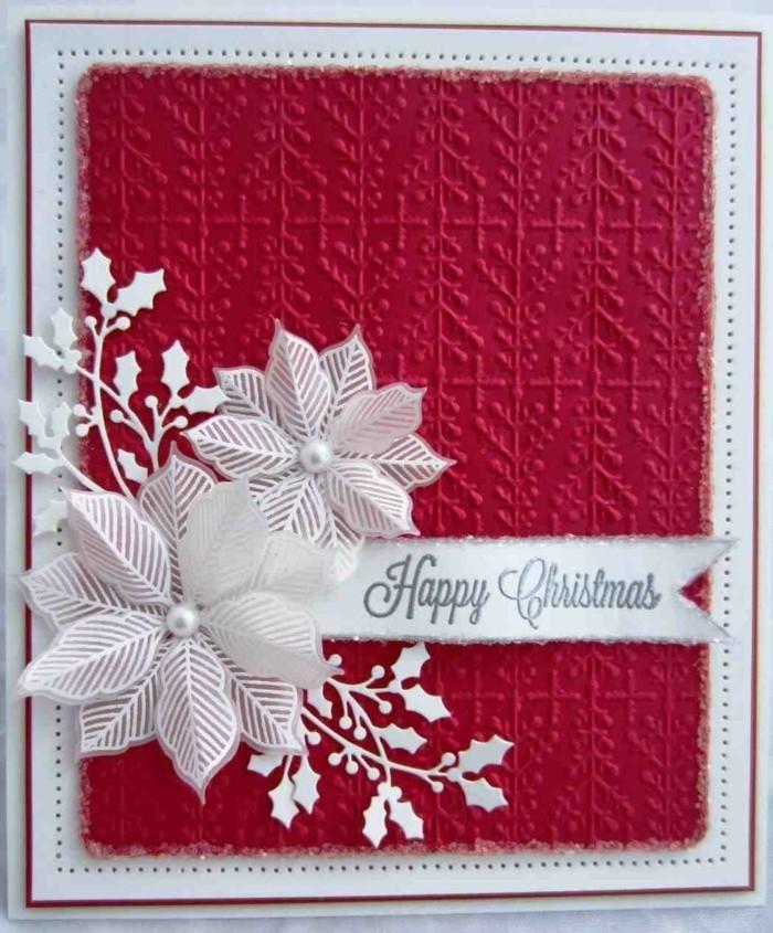 Weihnachtskarte selbst gestalten bluete