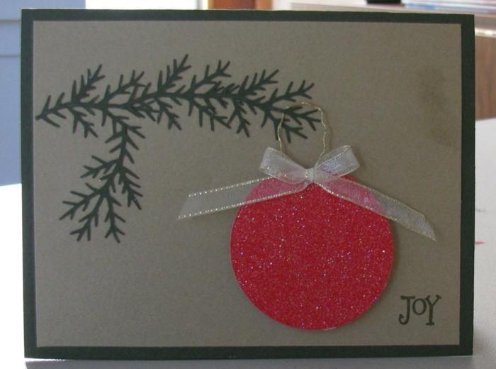 Weihnachtskarte selbst gestalten diy ideen