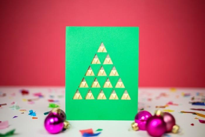 Weihnachtskarte selbst gestalten dreieck