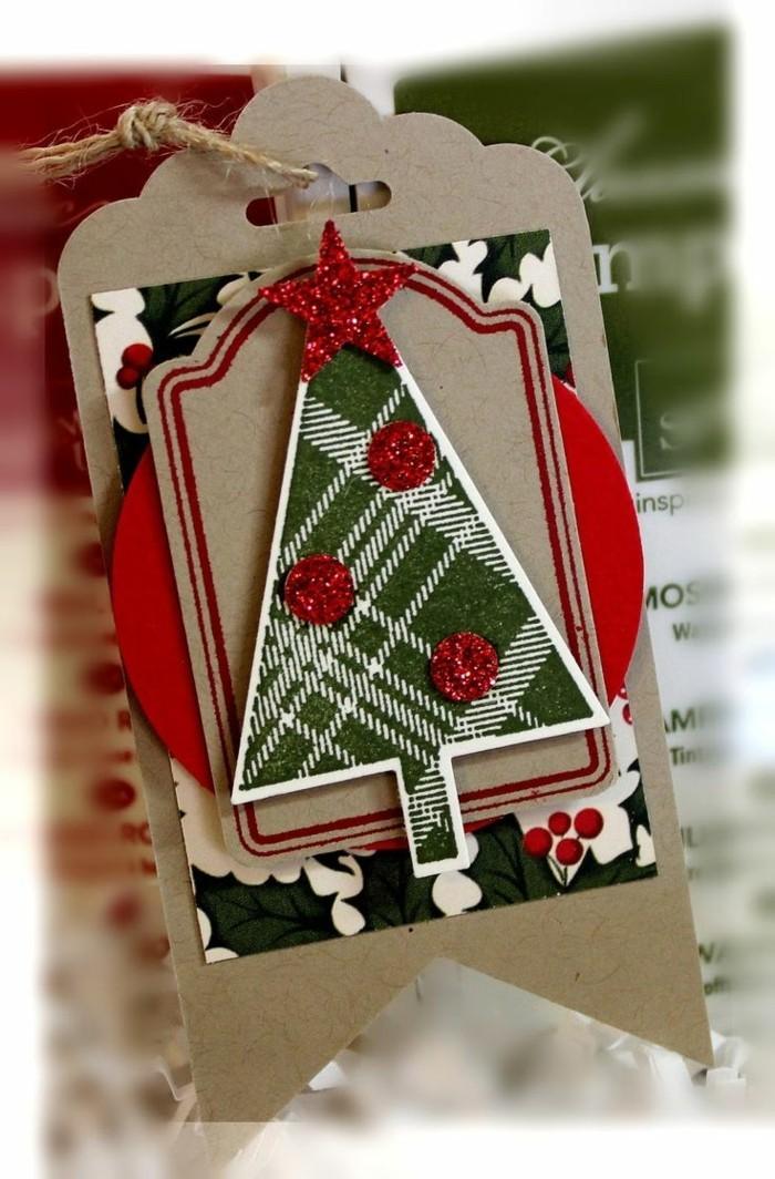 Weihnachtskarte selbst gestalten elegant