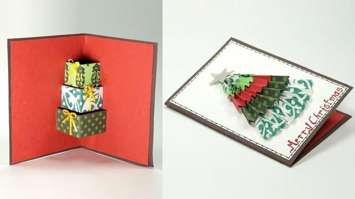 Weihnachtskarte selbst gestalten pop up
