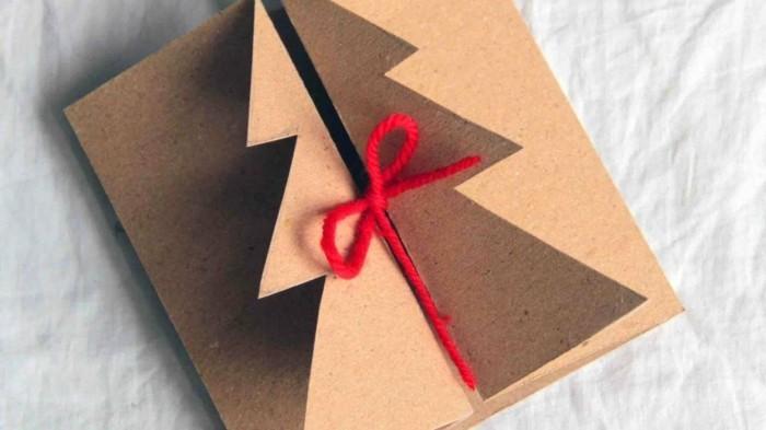 Weihnachtskarte selbst gestalten tannenbaum