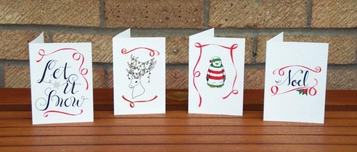 Weihnachtskarte selbst gestalten tiere