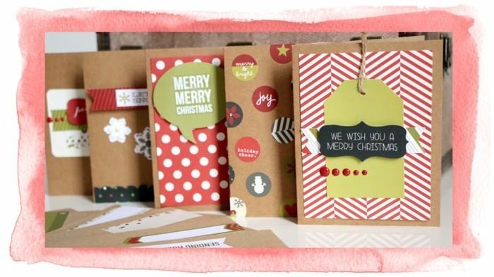 Weihnachtskarte selbst gestalten ueberlappen