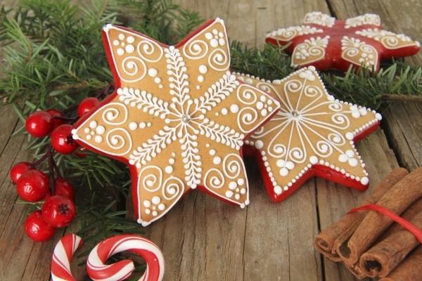 Weihnachtssterne backen DIY Deko
