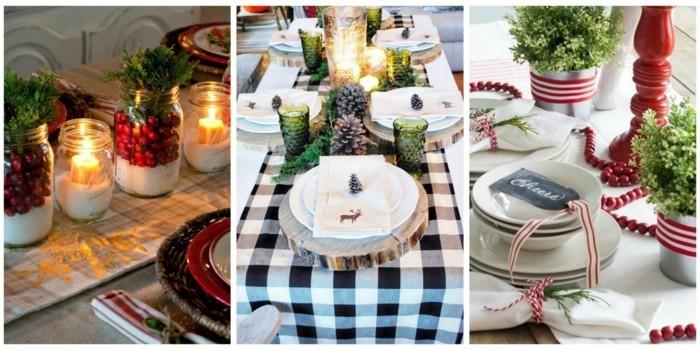 Winterliche Idee für DIY Tischset